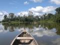 13. Laguna Sapote na řece Pacaya; Národní Rezervace Pacaya Samiria, Loreto, Peru (AR).
