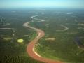 10. Řeka Aguaytía těsně před ústím do řeky Ucayali; horní tok Amazonky, Ucayali, Peru (LH).