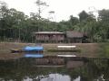 3. Strážní dům; PV Alegría,Národní rezervace Pacaya Samiria, Loreto, Peru (AR).