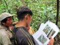 9. Náčelník Marcus (vpravo) a místní léčitel – currandero (vlevo) při sběru vzorků pro etnobotanický výzkum, poblíž vesnice Shoniro (Asháninca) na řece Yuruá, Ucayali Peru (JL).