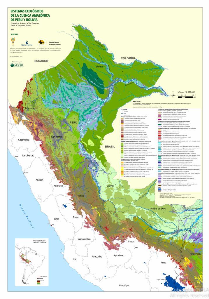 Mapa Ecosistemas Amazonicos